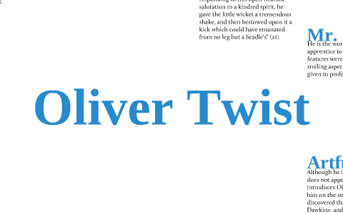 oliver twist summary short