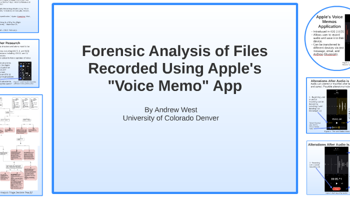 Forensic Analysis Of Files Recorded Using Apple 039 S Quot Voice Mem By Andrew West