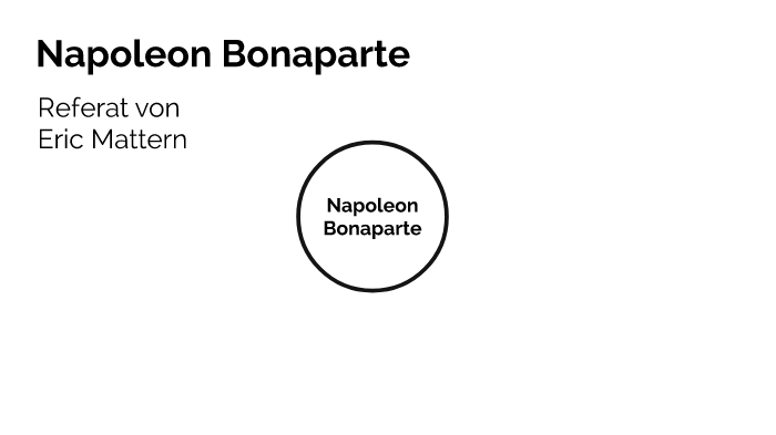 napoleon bonaparte referat