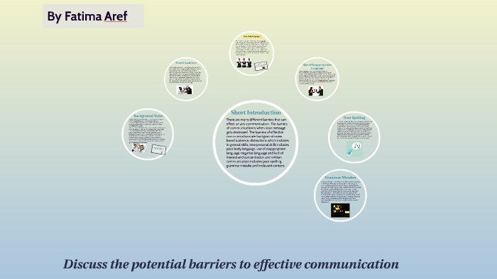 introduction to barriers of communication