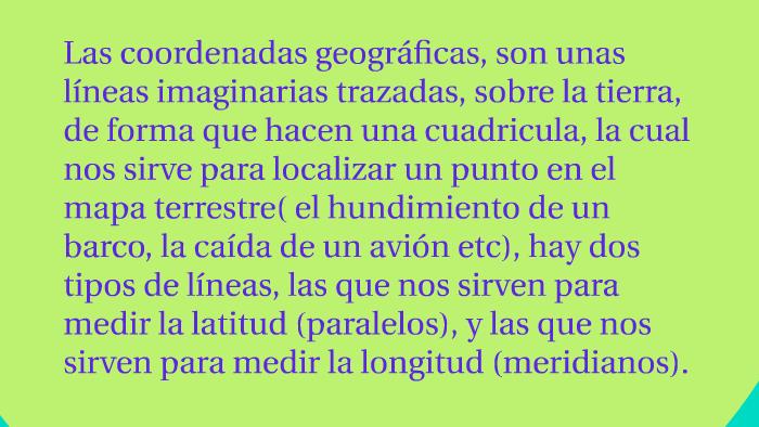 COORDENADAS by tefi fierro on Prezi