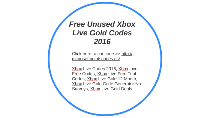 Free Unused Xbox Live Gold Codes 2016 by MariCrist347