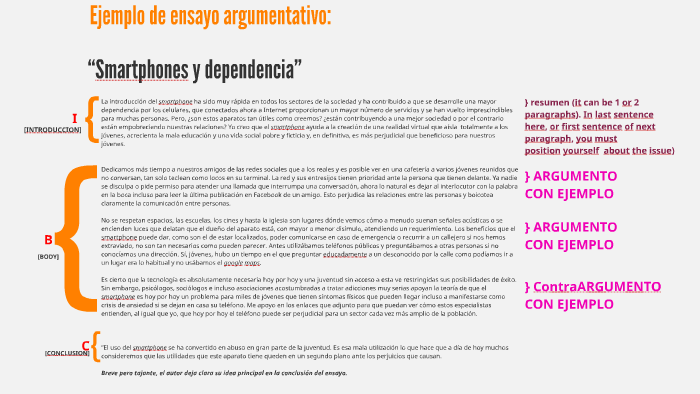 Ejemplo De Ensayo Argumentativo Los Smartphones Y La Depen