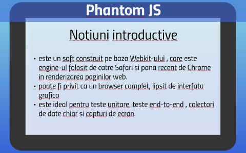 PhantomJS by Tudor Adrian on Prezi