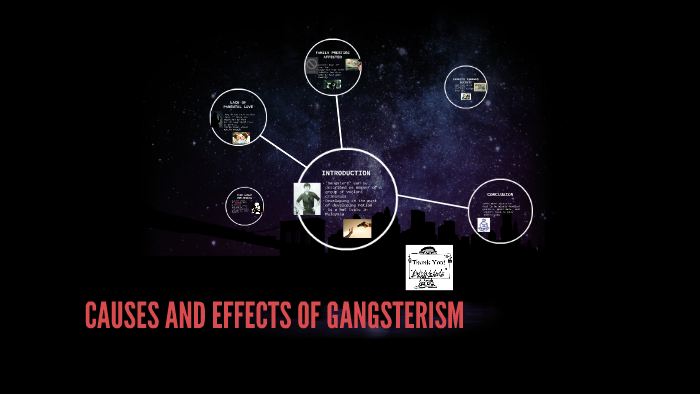 effect of gangsterism essays