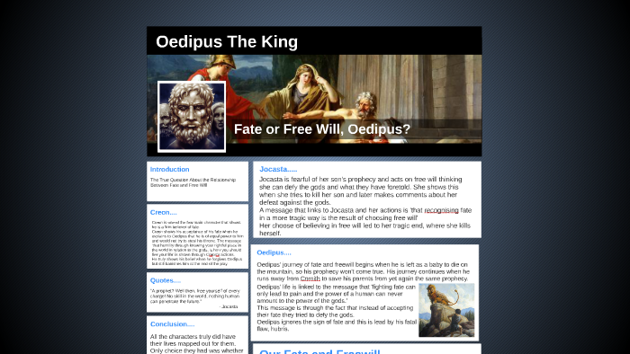 free will in oedipus the king