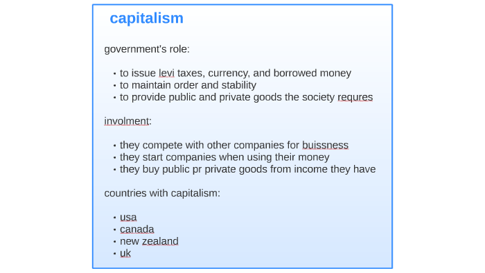 Roles In Government Capitalism Socialism And Communism By Sandra Ordaz On Prezi