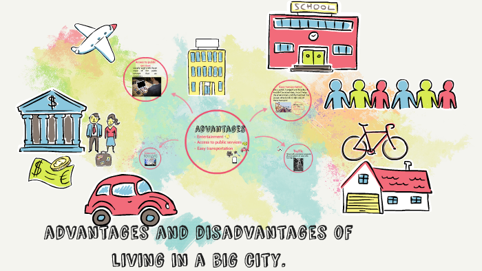 the advantages and disadvantages of living in a big city