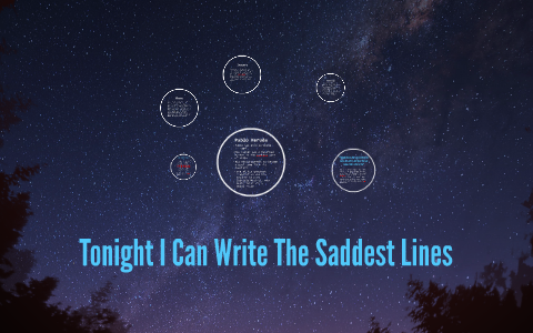 tonight i can write the saddest lines theme