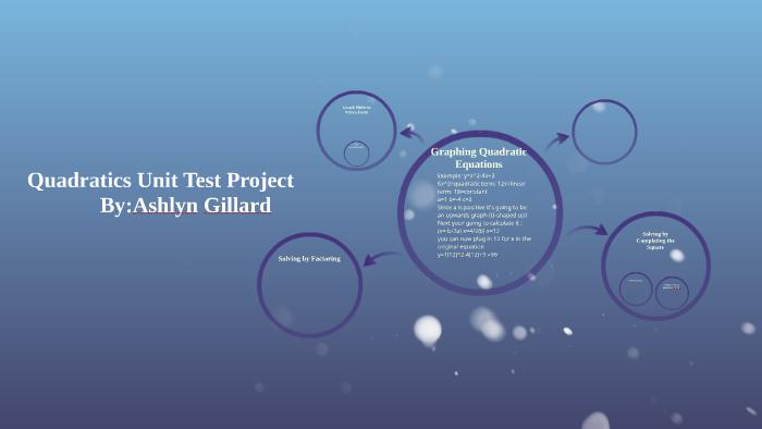 Quadratics Unit Test Project by Ashlyn Gillard on Prezi