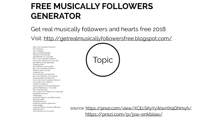 FREE MUSICALLY FOLLOWERS GENERATOR [WORKING] by eugene
