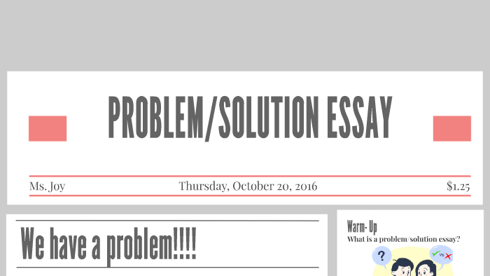 Problem solution essay genre ways of introducing quotes in essays