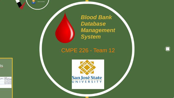 Blood Bank Database Management System By Shreyas Bhat