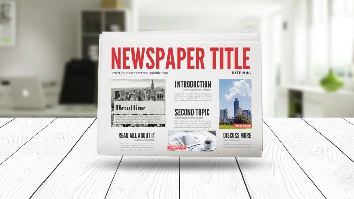 3d newspaper prezi template by prezi templates by. Black Bedroom Furniture Sets. Home Design Ideas