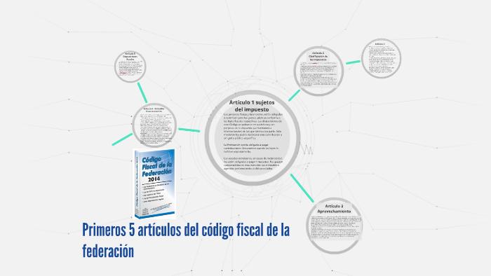 Primeros 5 artículos del código fiscal de la federación by