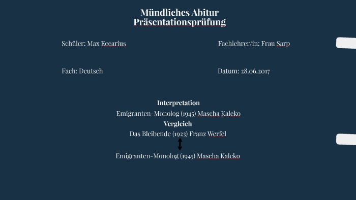 Interpretation Und Vergleich By Max Eccarius On Prezi