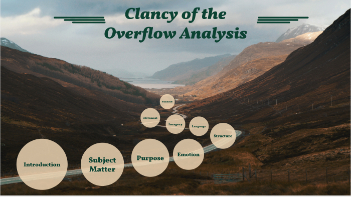 analysis of clancy of the overflow