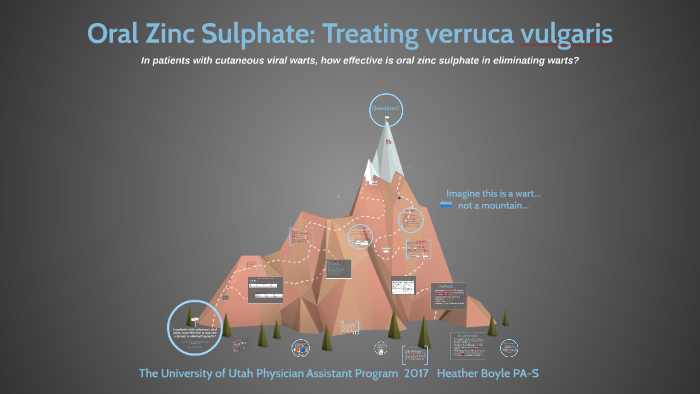 Oral Zinc Sulphate: Treating verruca vulgaris