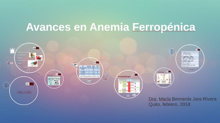 Anemia ferropenica en el adulto mayor