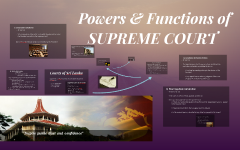 powers and functions of supreme court
