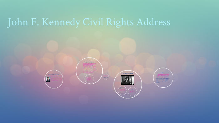 jfk civil rights speech rhetorical analysis