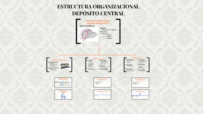 Estructura Organizacional Depósito Central By Andres