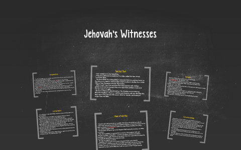 Jehovah's Witnesses by Matt Tran on Prezi