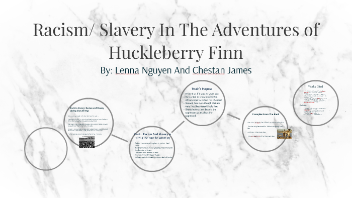 racism and slavery in huckleberry finn