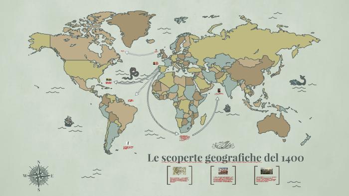 Cartina 1400.Le Scoperte Geografiche Del 1400 By Martina Distefano