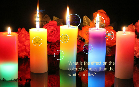 Do white candles burn faster than colored candles? by ...