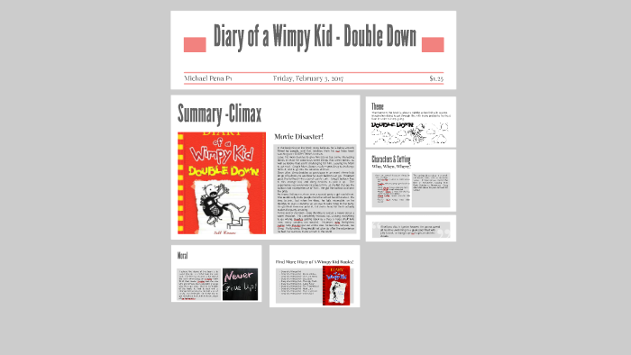 Diary Of A Wimpy Kid Double Down By Michael Pena
