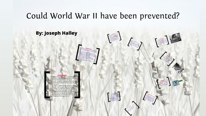 could ww2 have been prevented