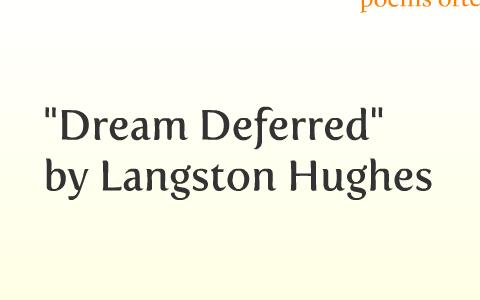 dream deferred theme
