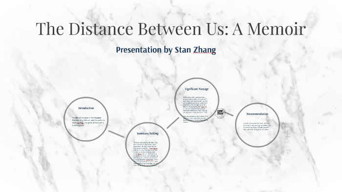 Presentation On The Distance Between Us A Memoir By Stan Zhang On Prezi