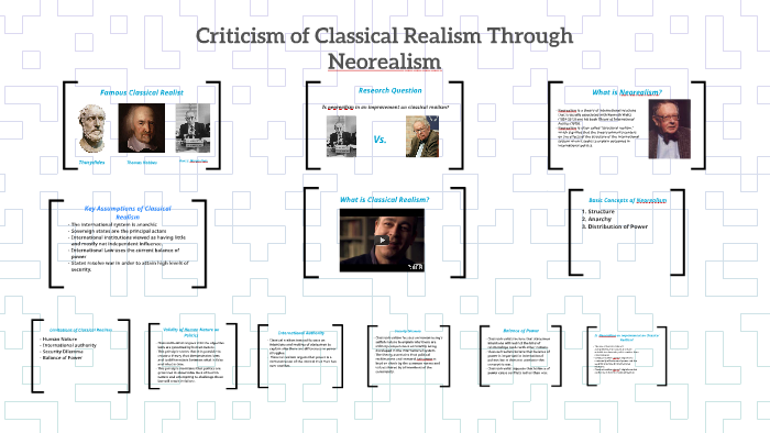 classical realism and neorealism
