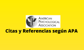 Copy Of Copy Of Citas Y Referencias Según Apa