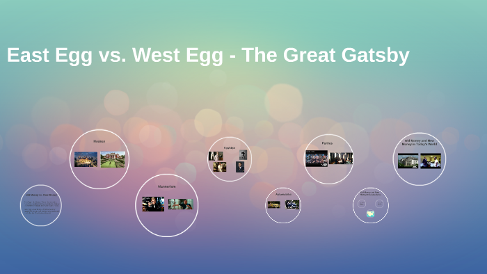 who lives in west egg in the great gatsby