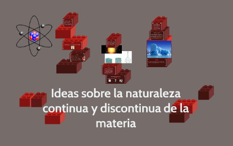 Ideas Sobre La Naturaleza Continua Y Discontinua De La Mater