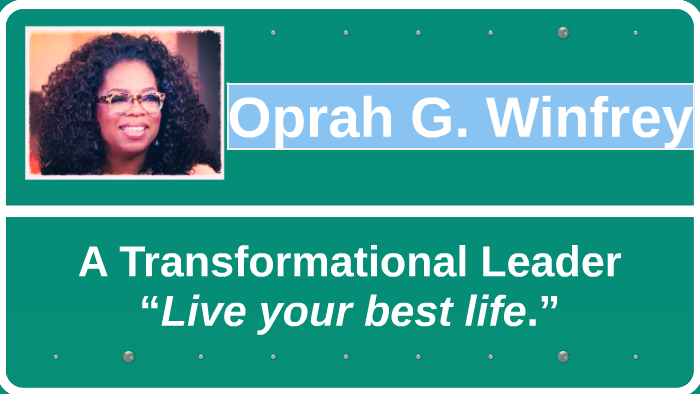 how is oprah a leader