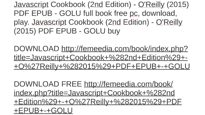 Javascript cookbook pdf free download