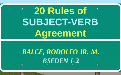 20 Rules Of Subject Verb Agreement By Bea Trixia Anne Domingo On Prezi