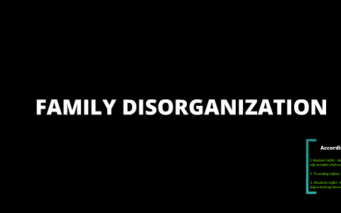 what is family disorganization