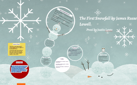 the first snowfall poem summary