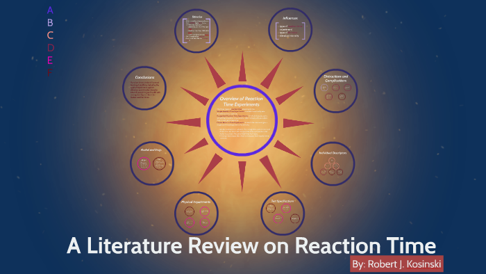 a literature review on reaction time by robert j. kosinski