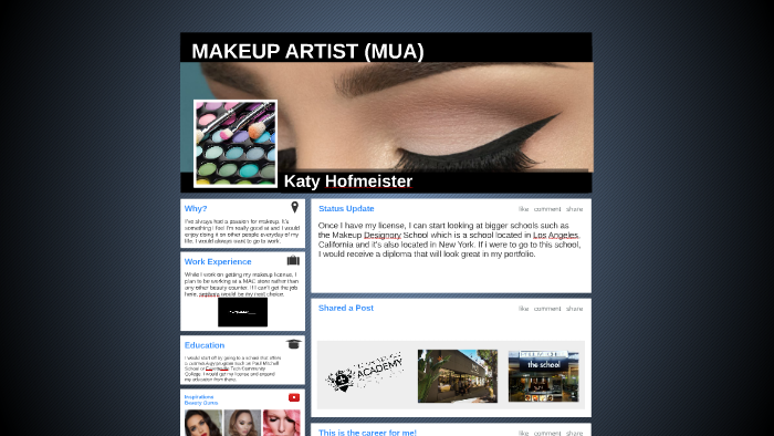 MAKEUP ARTIST (MUA) by Katy Hofmeister on Prezi