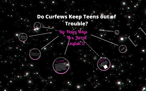 Do curfews keep kids out of trouble essay