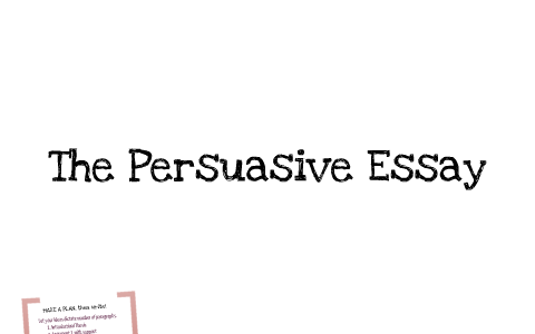 persuasive essay help