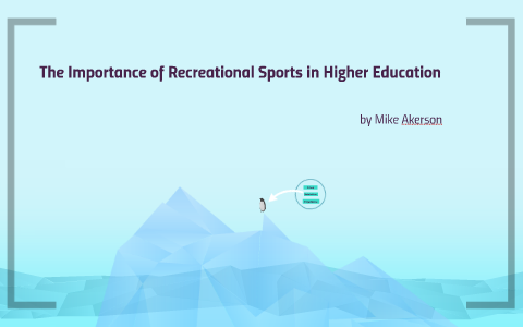 importance of recreation