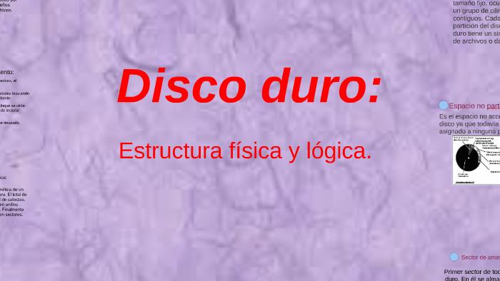 Estructura Física Y Lógica Del Disco Duro By Sergio Zárate