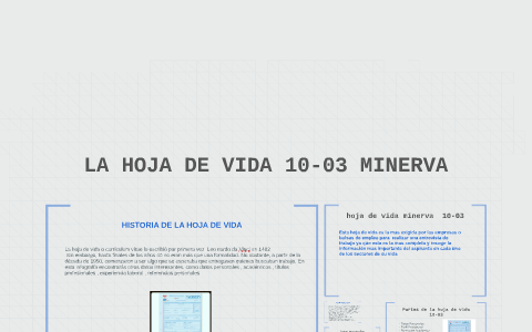 La Hoja De Vida 10 03 Minerva By Jonathan Steven Bello Siachoque On